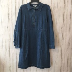 Cold water creek Denim dress with pockets